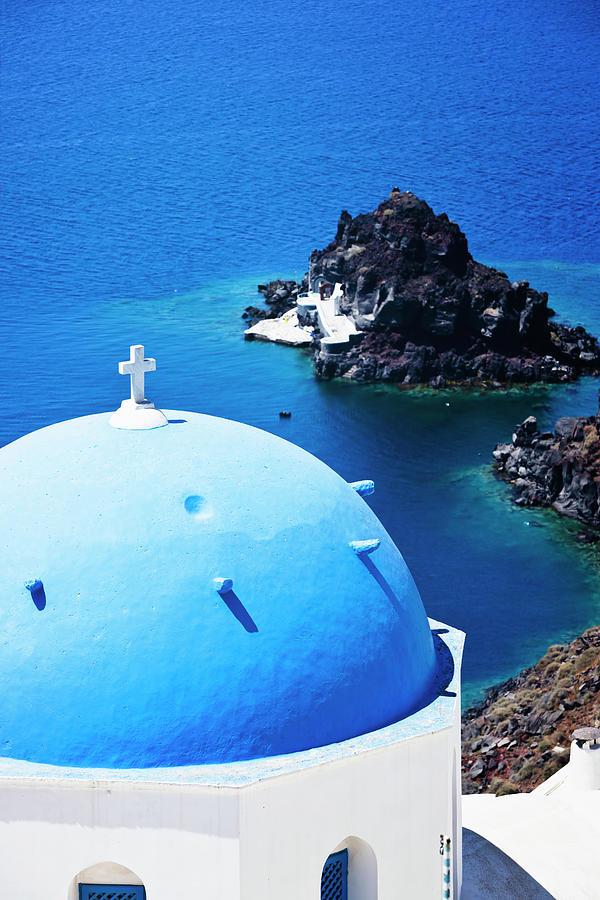 Santorini Famous Church Photograph by Mbbirdy