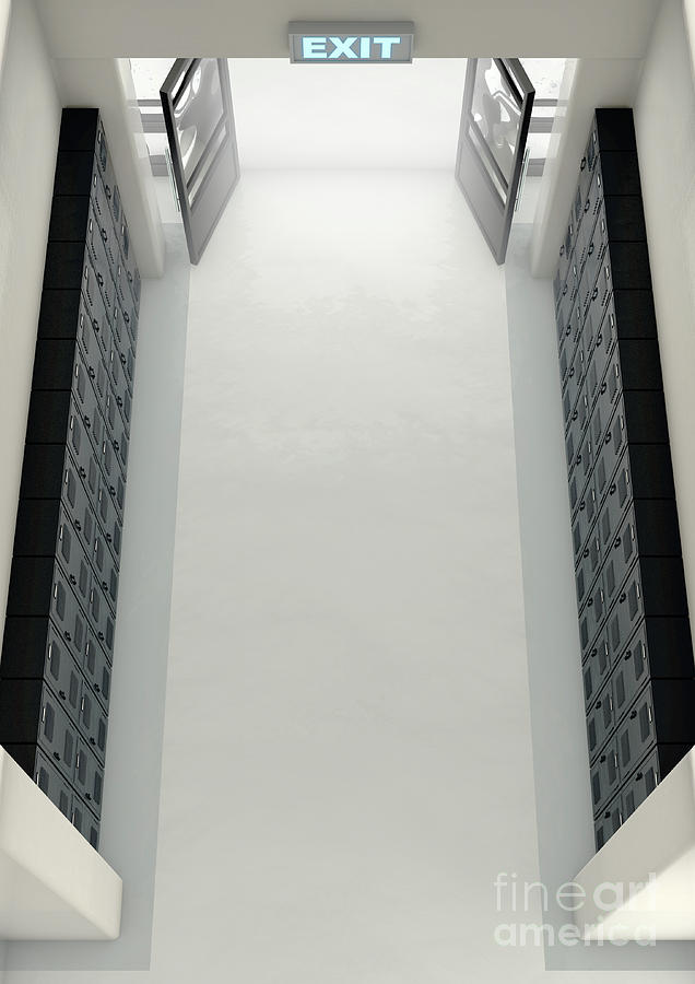 School Locker Exit Way Digital Art