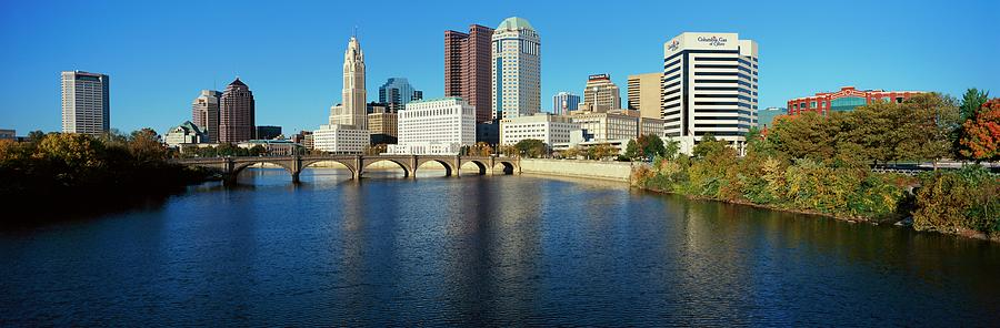 Scioto River And Columbus Ohio Skyline Photograph by Visionsofamerica/joe Sohm