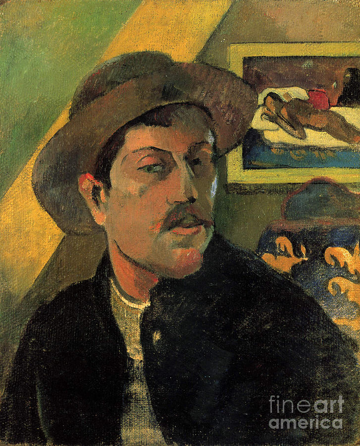 Self-portrait. Artist Gauguin, Paul Drawing by Heritage Images