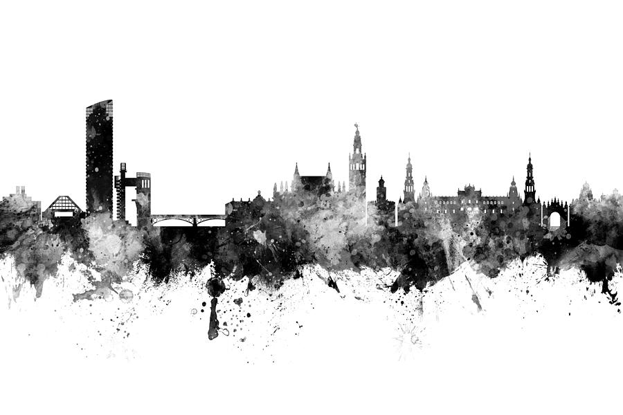 Sevilla Spain Skyline by Michael Tompsett
