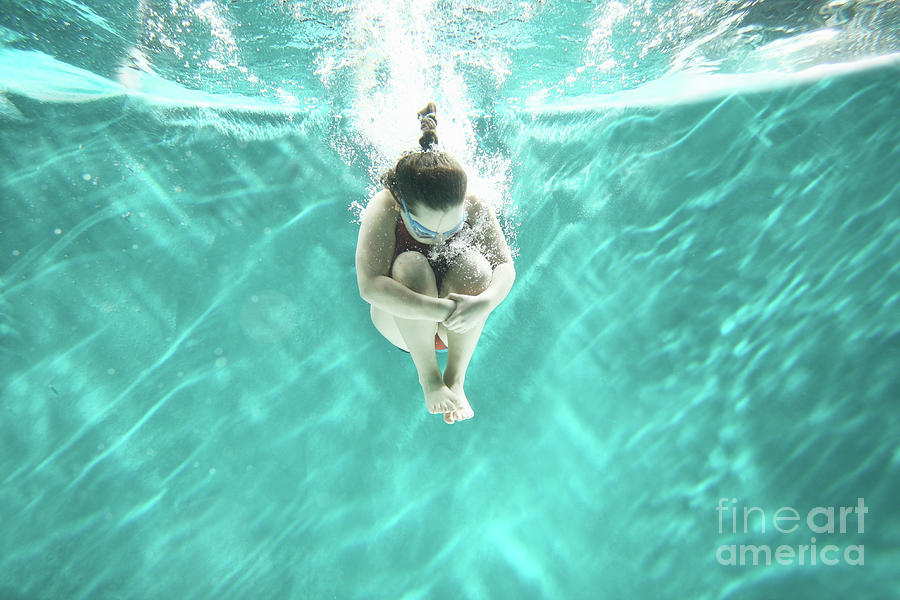 Small Girl Jumping Into The Water- Photograph by Stanislaw Pytel