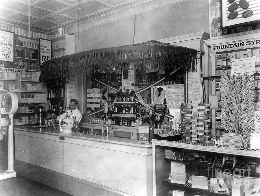 SODA FOUNTAIN, c1921 by Granger