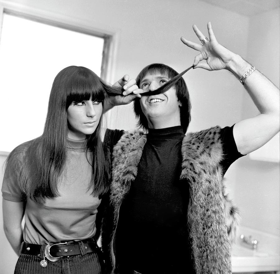 Event Photograph - Sonny & Cher Portrait Session by Michael Ochs Archives