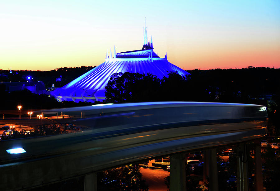 Space Mountain and Monorail work B by David Lee Thompson