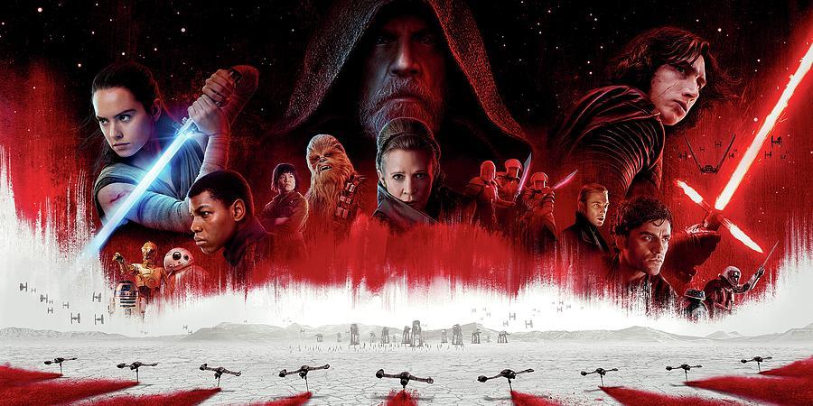 Star Wars Digital Art - Star Wars The Last Jedi  by Geek N Rock