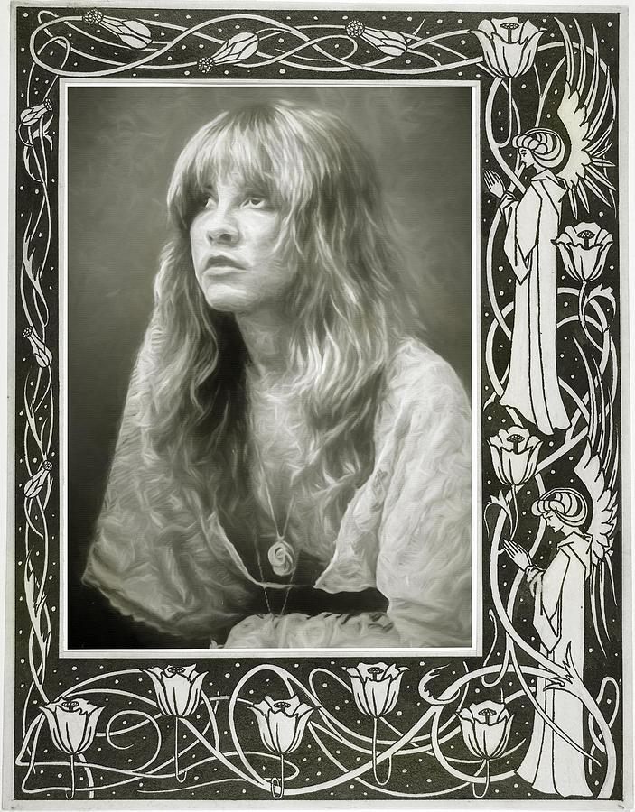 Stevie Nicks Mixed Media - Stevie Nicks Fleetwood Mac by Mal Bray