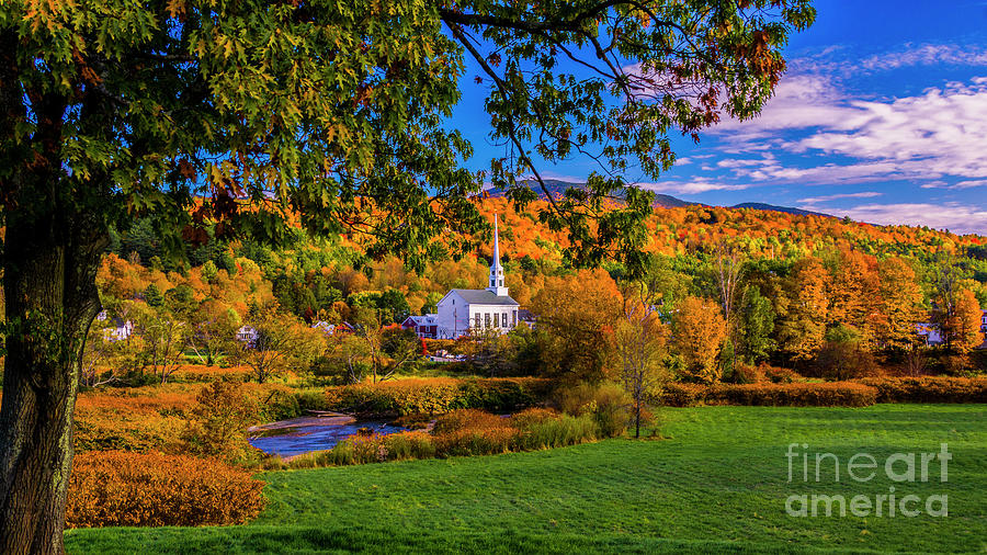 Stowe Community Church by Scenic Vermont Photography