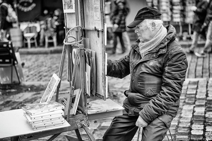 Street Artist in Montmartre by Pablo Lopez