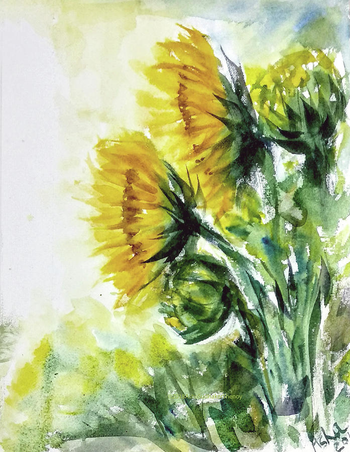 Sunflowers by Asha Sudhaker Shenoy