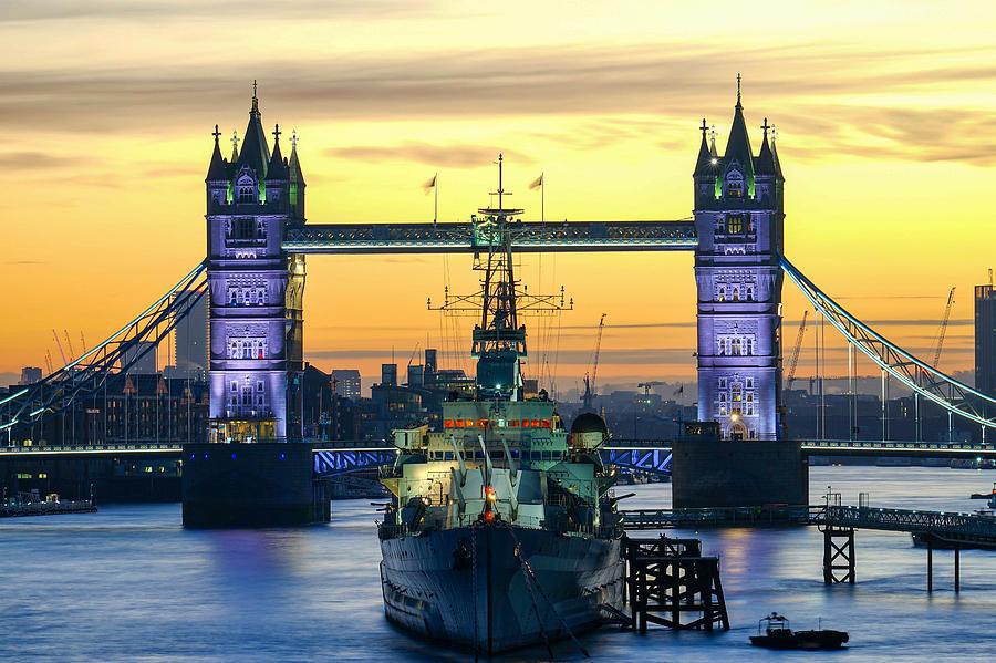 Sunrise At Tower Bridge In London Photograph