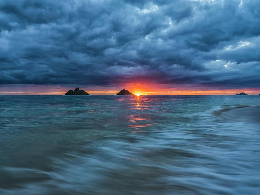 Sunrise Over Lanikai Beach  Oahu by Robert Postma