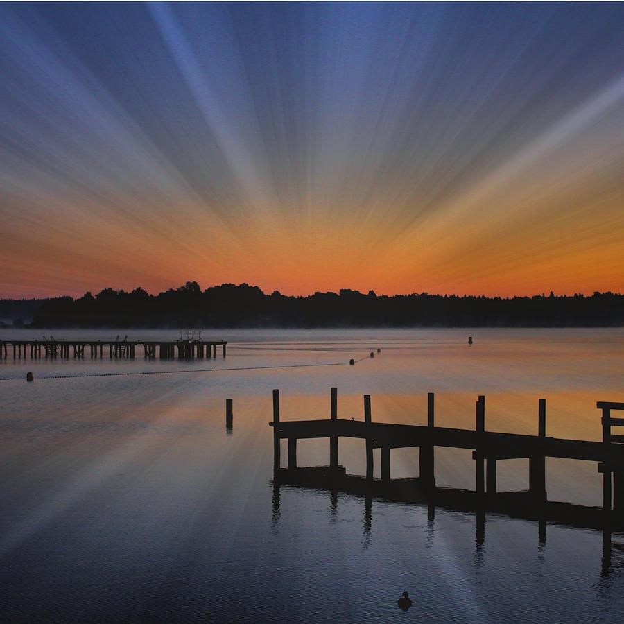 Sunrise Photograph - Sunrise Pier by Angel Eowyn