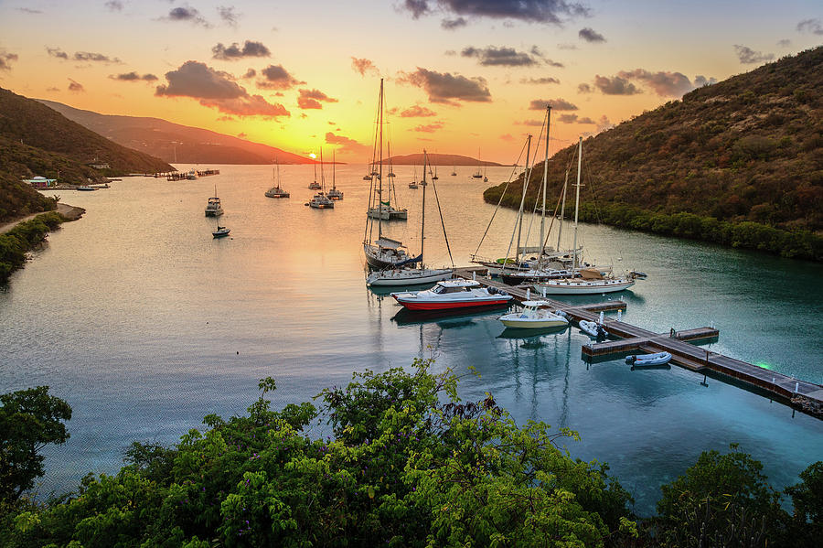 Sunset On The Tropical Island Photograph