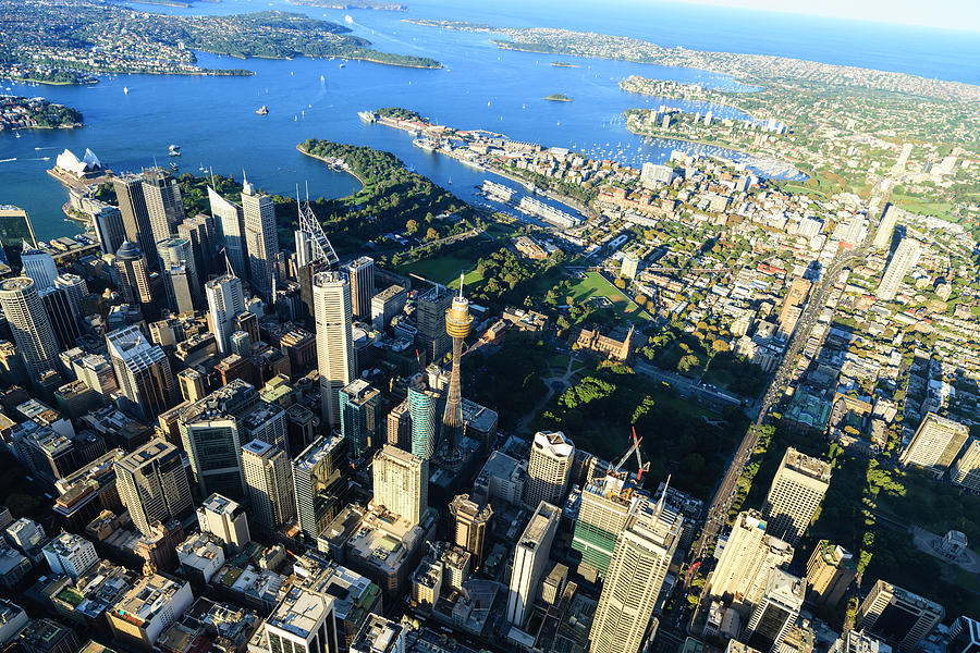 Sydney Downtown - Aerial View Photograph by Btrenkel