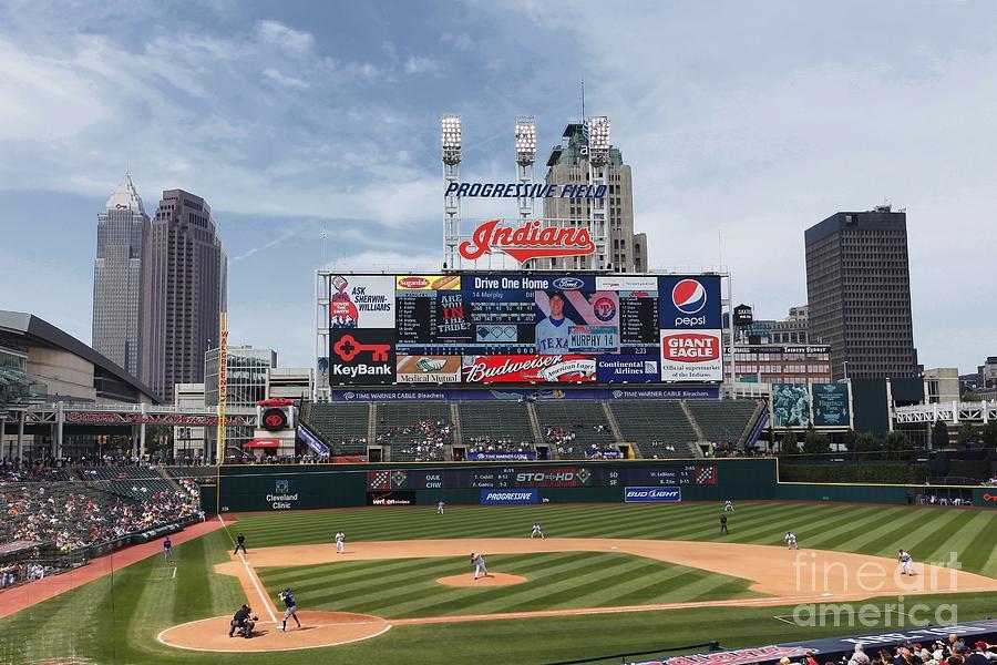 Texas Rangers V Cleveland Indians Photograph by Joe Robbins