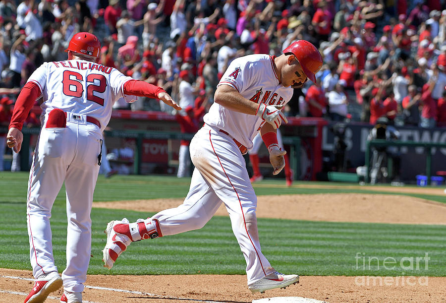 Texas Rangers V Los Angeles Angels Of Photograph by Jayne Kamin-oncea