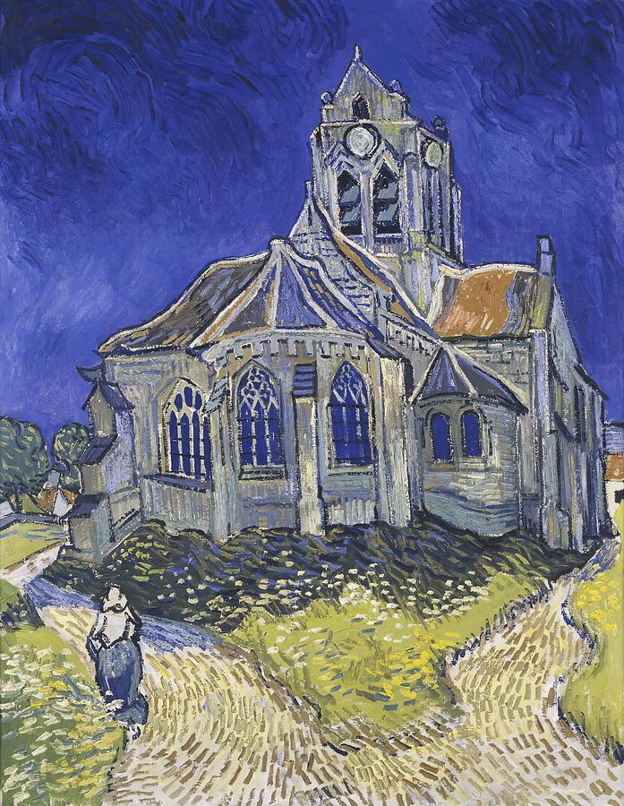 Vincent Van Gogh Painting - The Church In Auvers Sur Oise  View From The Chevet  by Vincent van Gogh