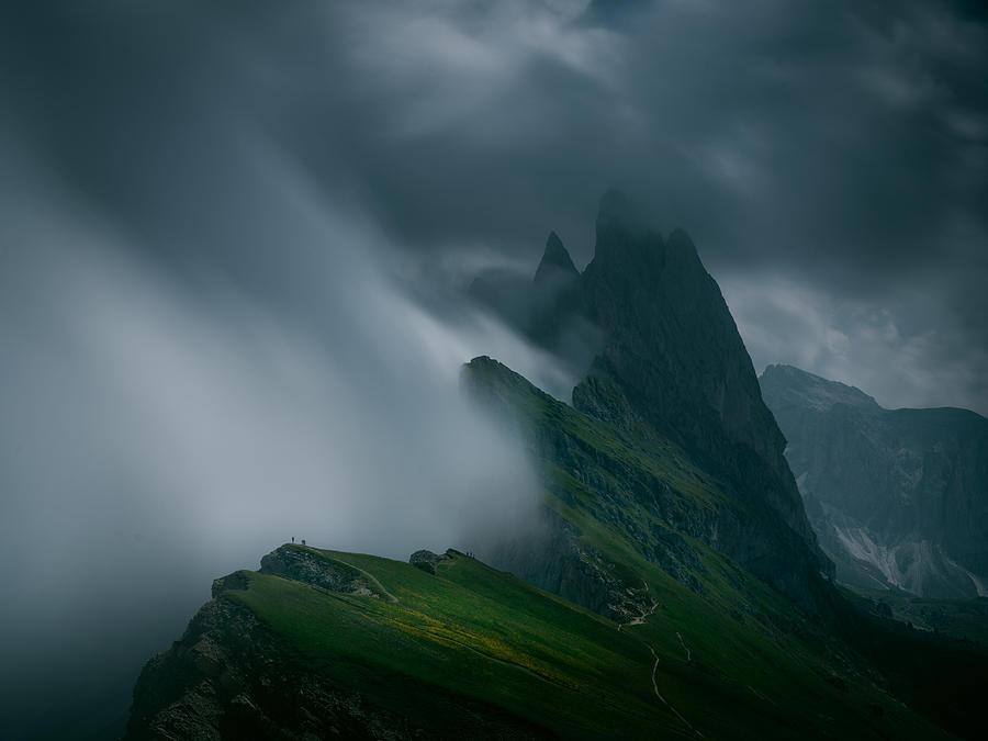 Mountain Photograph - The Cloud by Bingo Z