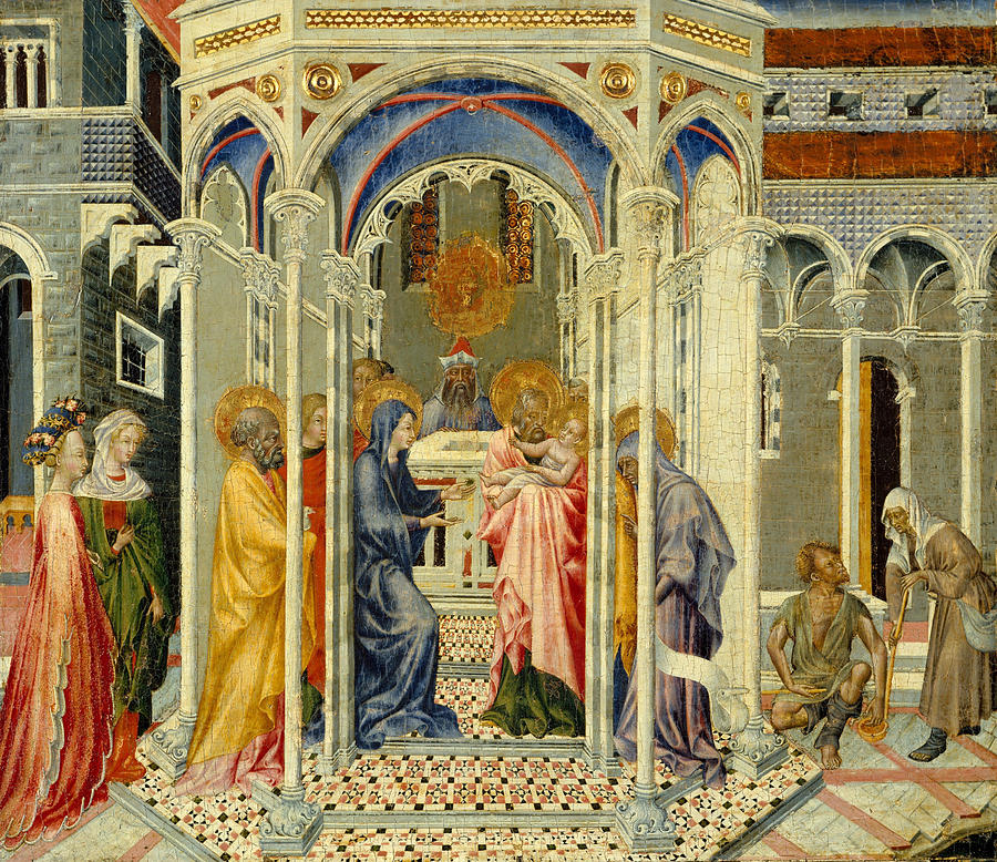 Giovanni Di Paolo Painting - The Presentation Of Christ In The Temple by Giovanni di Paolo