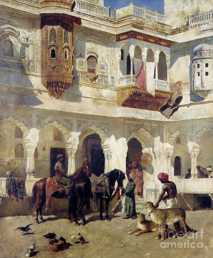 Edwin Lord Weeks Painting - The Rajah Starting On A Hunt  by Edwin Lord Weeks