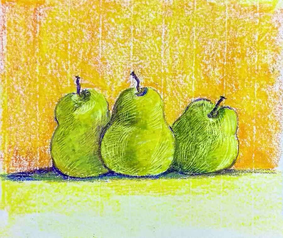 Three pears by Asha Sudhaker Shenoy
