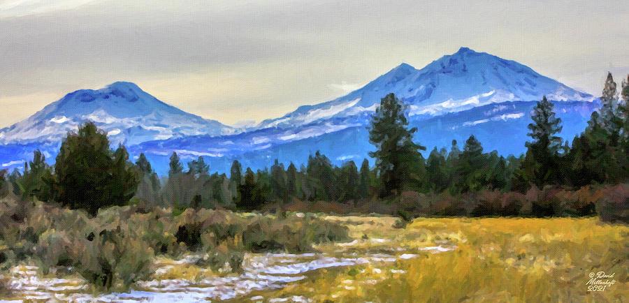 Three Sisters Oregon Mountains Wall Art by David Millenheft
