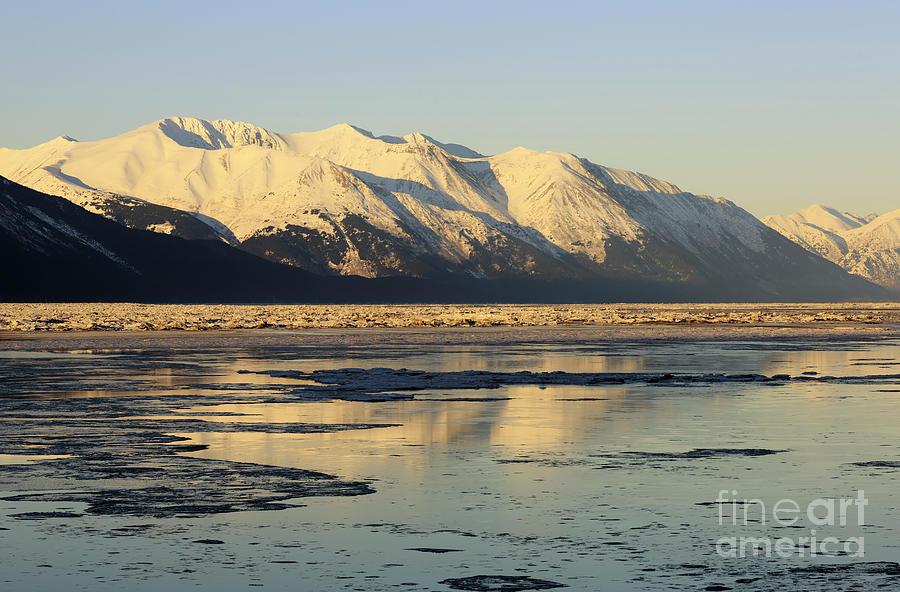 Turnagain Arm Photograph - Turnagain Arm And Kenai Mountains Alaska by Louise Heusinkveld
