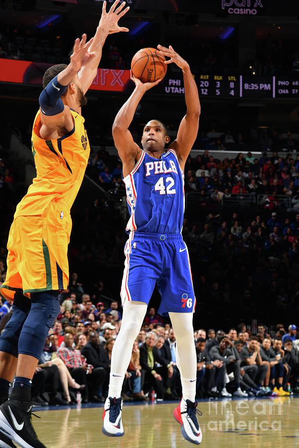 Utah Jazz V Philadelphia 76ers Photograph by Jesse D. Garrabrant