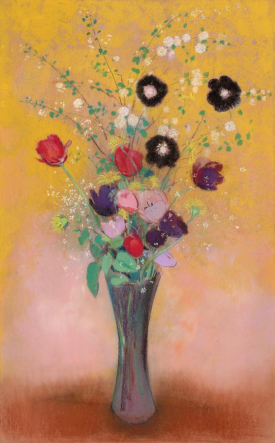 Odilon Redon Painting - Vase Of Flowers, 1916 by Odilon Redon