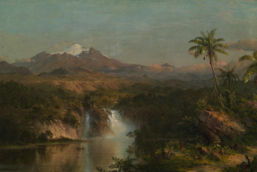 Hudson River School Painting - View Of Cotopaxi 2 by Frederic Edwin Church