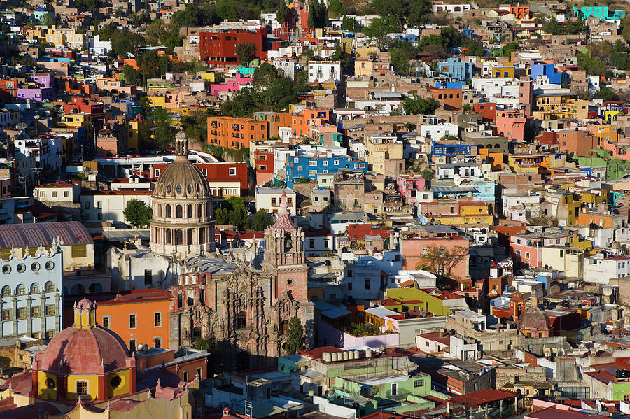 View Over Guanajuato, Mexico Photograph by Peter Adams