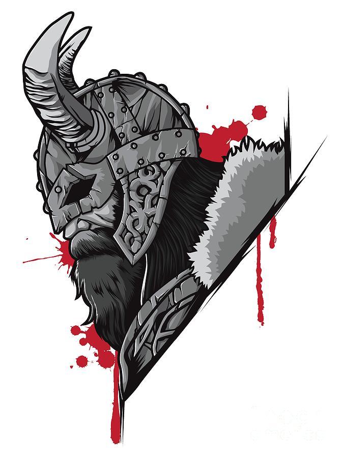 d70b89e8 Viking Warrior Raven Odin Valhalla Valknut Loki by Mister Tee