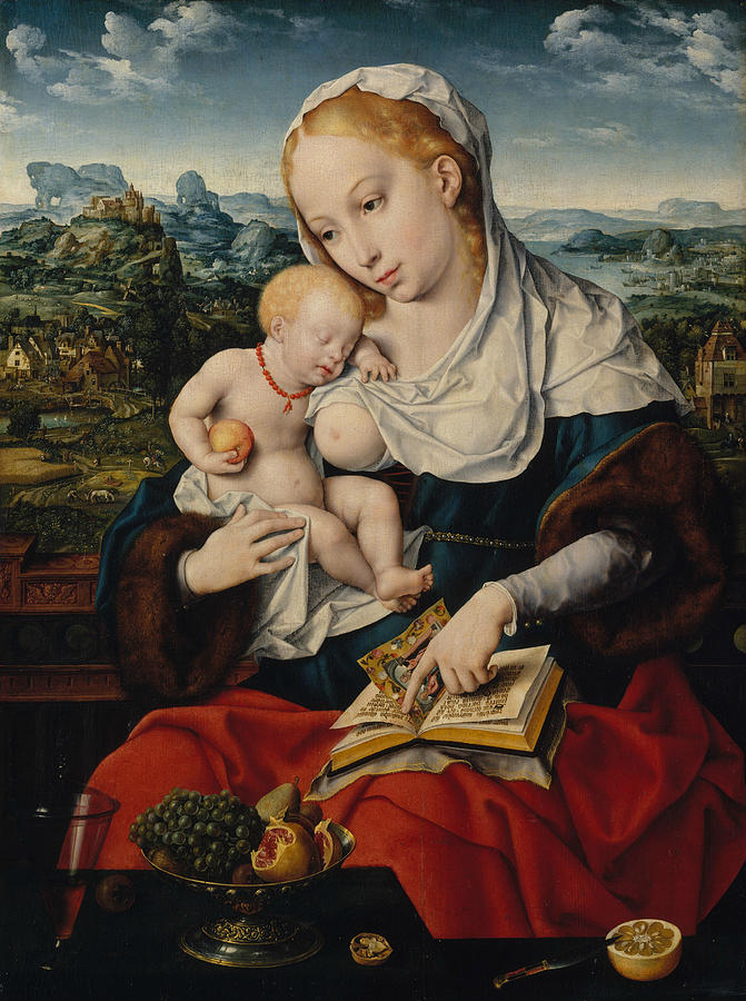 Flemish Painters Painting - Virgin And Child by Joos van Cleve