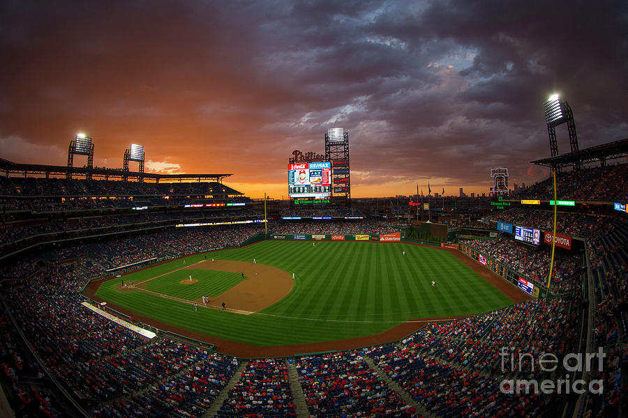 Washington Nationals  V Philadelphia Photograph by Mitchell Leff