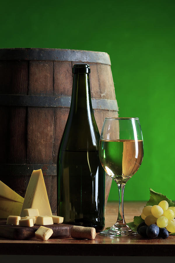 White Wine Composition Photograph by Valentinrussanov