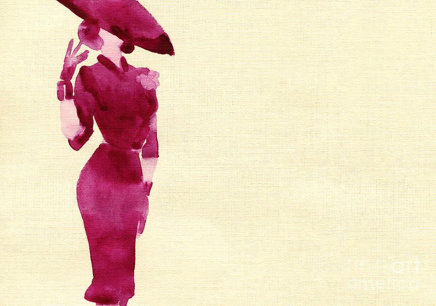 Studio Digital Art - Woman With Elegant Dress .abstract by Anna Ismagilova