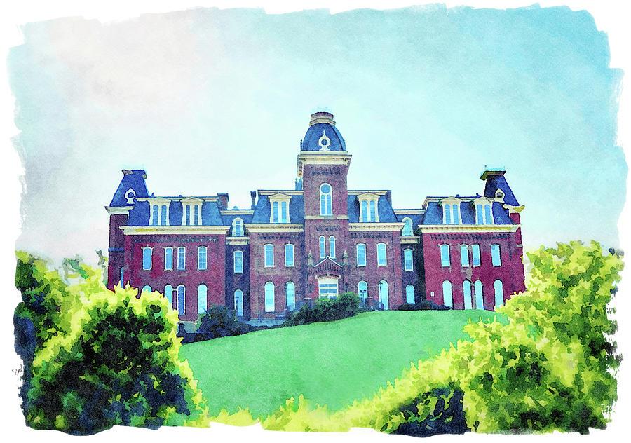Woodburn Hall at West Virginia University in Morgantown WV by Steven Heap