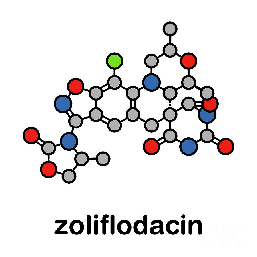 Antibiotic Photograph - Zoliflodacin Antibiotic Drug Molecule by Molekuul/science Photo Library