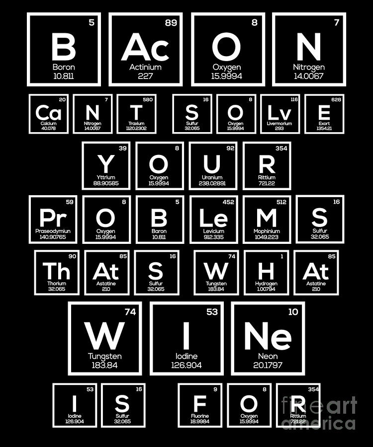 Periodic Table of Wine Alcohol Red White Wine Gift by TeeQueen2603