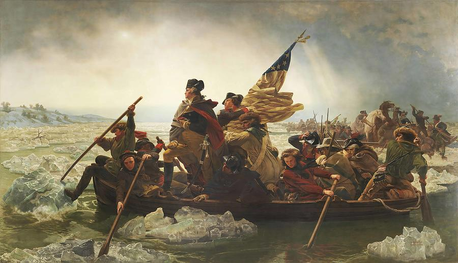 Emanuel Leutze Painting - Washington Crossing The Delaware  by Emanuel Leutze