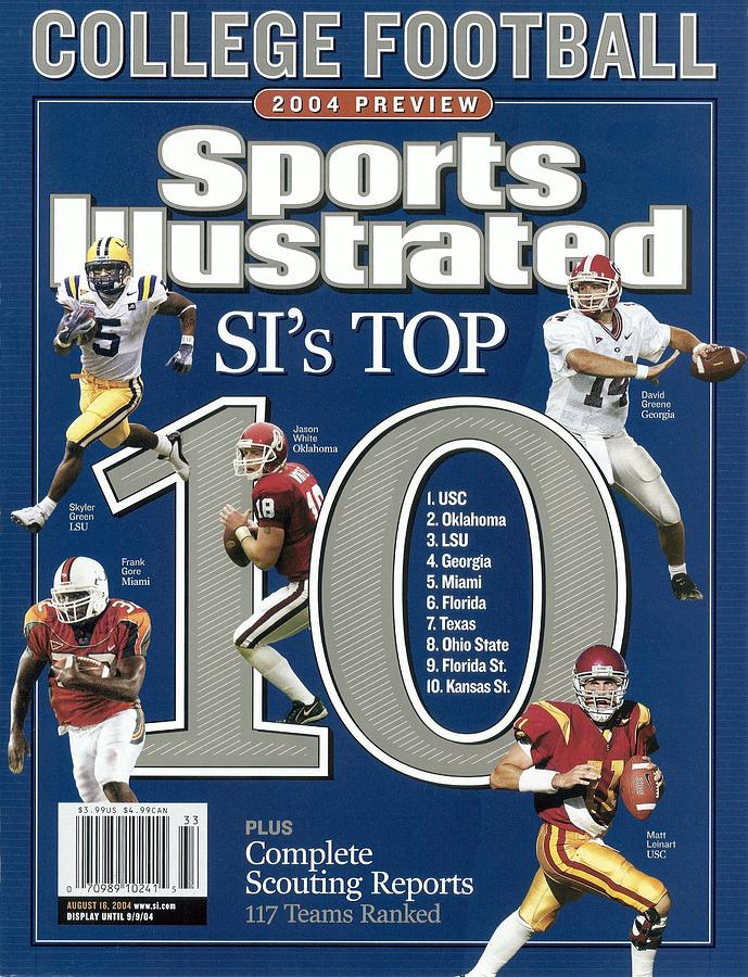 2004 College Football Preview Issue Sports Illustrated Cover Photograph by Sports Illustrated