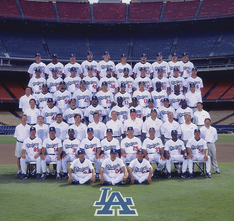 2004 Los Angeles Dodgers Team Photo 2004 Photograph by Mlb Photos