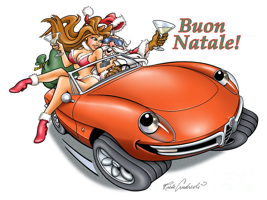 2009 Alfa Club Christmas Card by Rick Andreoli