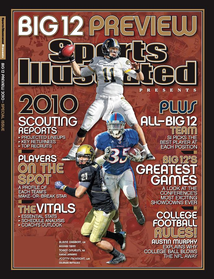 2010 Big 12 Football Preview Issue Sports Illustrated Cover Photograph by Sports Illustrated