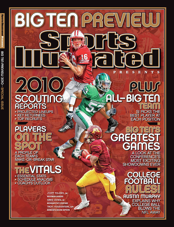 2010 Big Ten Football Preview Issue Sports Illustrated Cover Photograph by Sports Illustrated