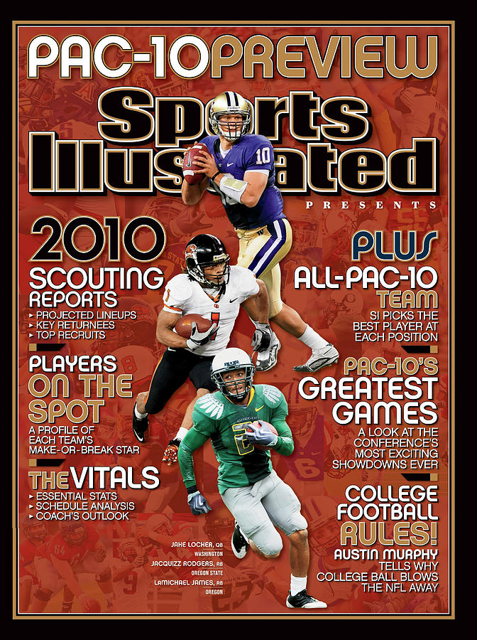 2010 Pac-10 Football Preview Issue Sports Illustrated Cover Photograph by Sports Illustrated