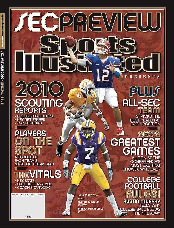 2010 Sec Football Preview Issue Sports Illustrated Cover Photograph by Sports Illustrated