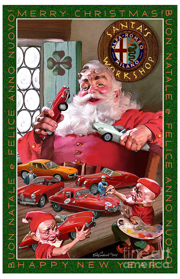 2011 Alfa Club Christmas Card by Rick Andreoli