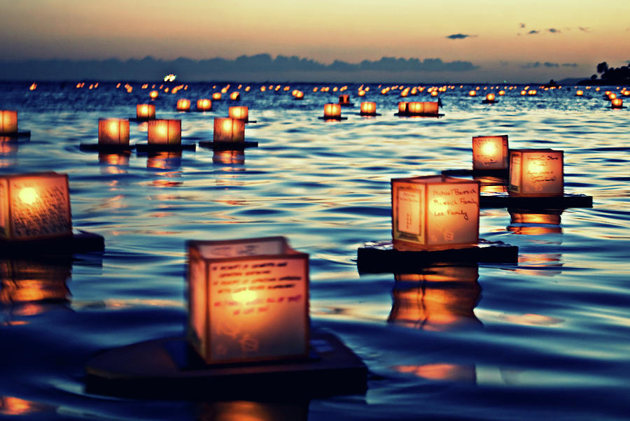 2011 Lantern Floating Ceremony Hawaii Photograph by Photos By Naomi Hayes Of Island Memories Photography